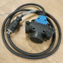Power cable with 3-way connector / 3G2,5mm² / 2m